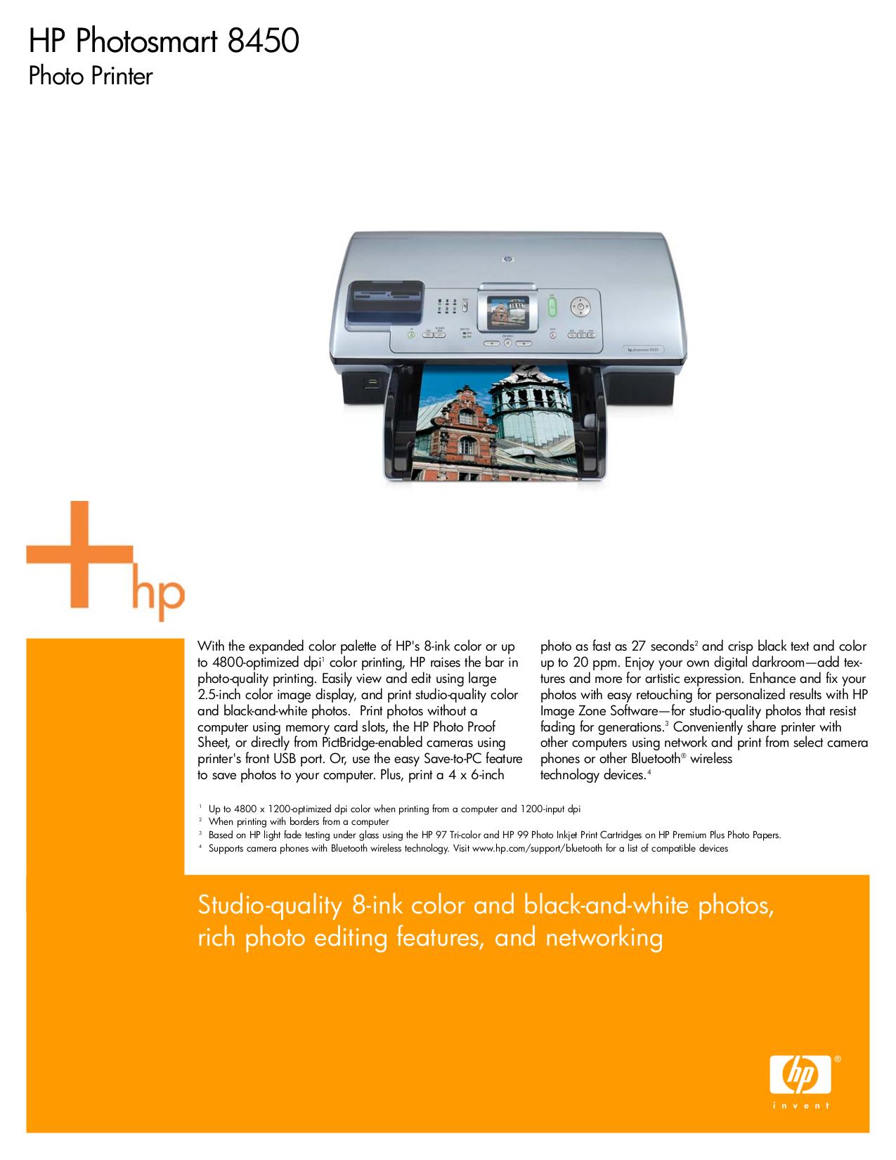 download free pdf for hp photosmart 8450 printer manual rh umlib com HP Photosmart 2610 hp photosmart 8450 user manual