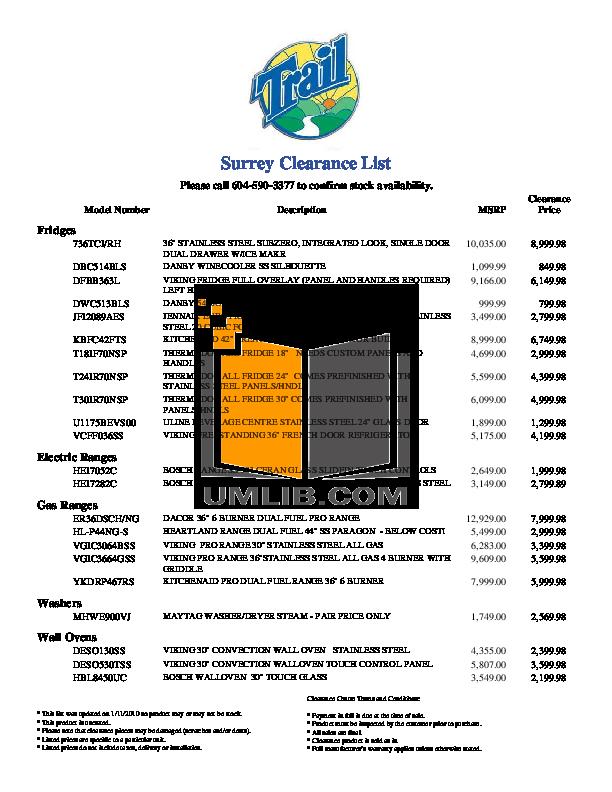 pdf for Heartland Range HL-P44NG-S manual