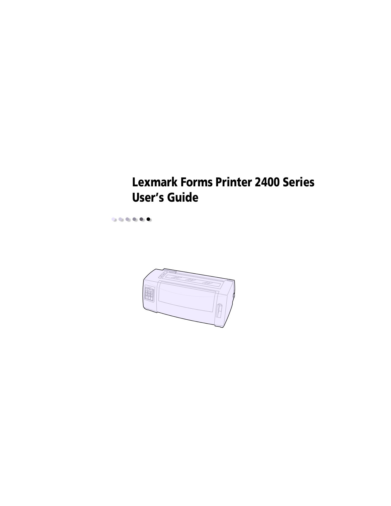 pdf for Lexmark Printer T520 manual