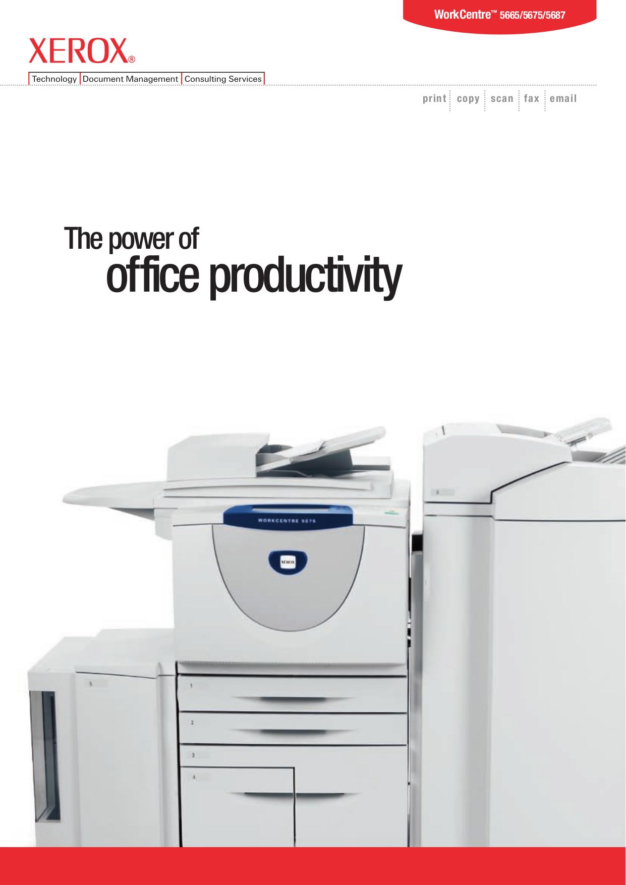 pdf for Xerox Copier WorkCentre 5687 manual