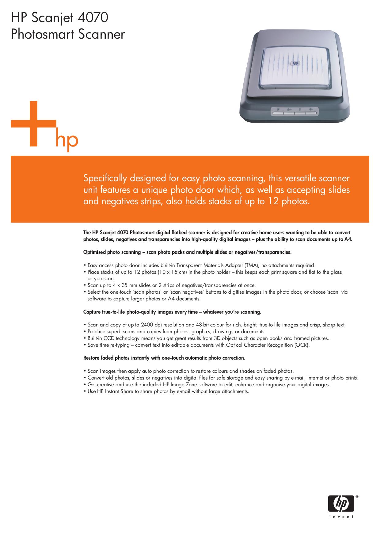 download free pdf for hp scanjet 4070 scanner manual rh umlib com hp scanjet 4070 manual de instrucciones HP Scanjet 8250