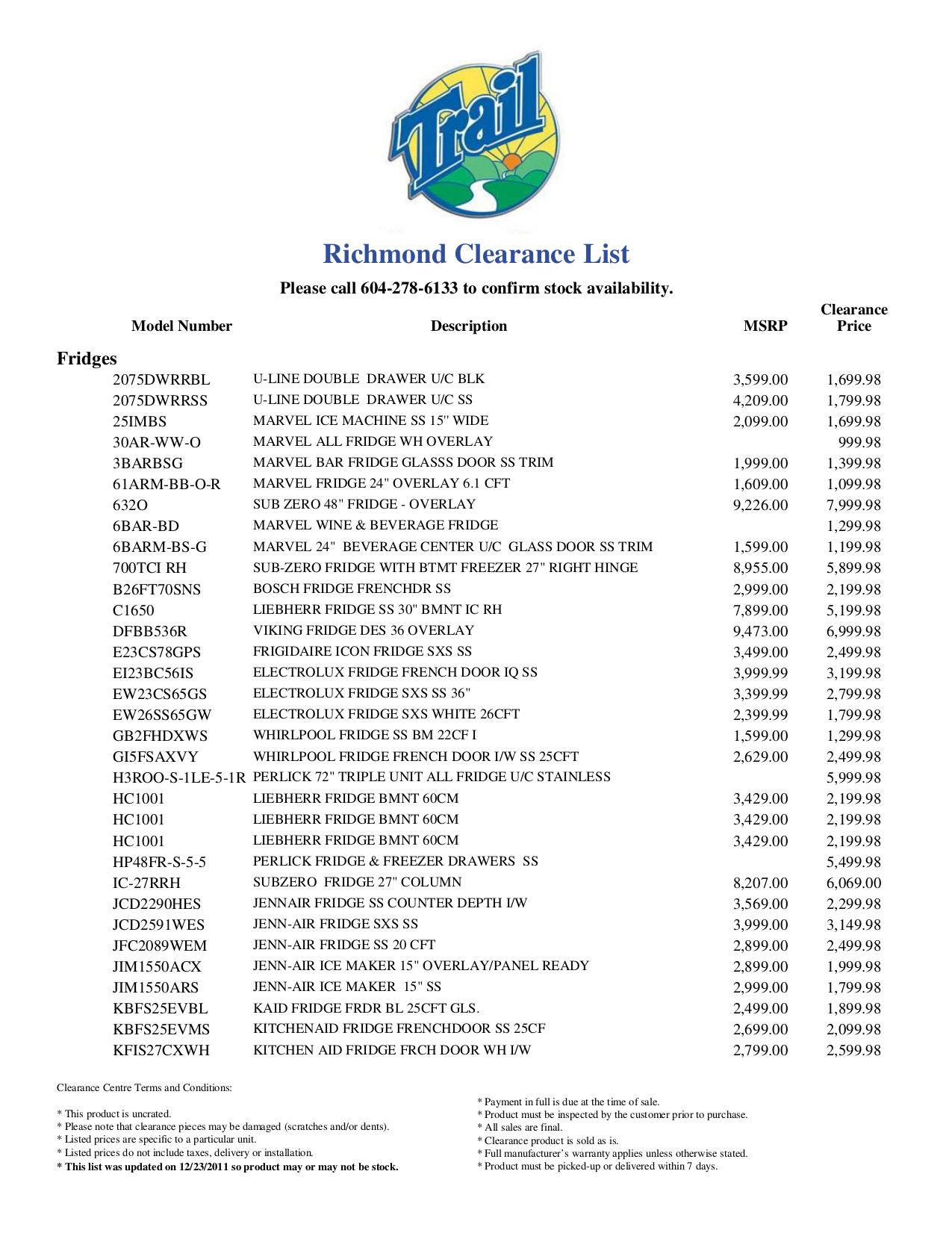 pdf for U-Line Refrigerator Echelon 2075DWRRSS manual