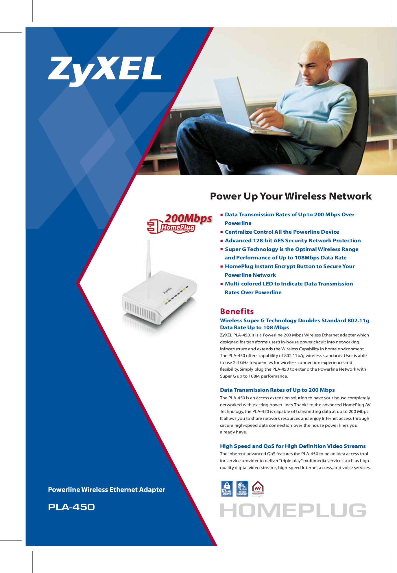 download free pdf for zyxel pla 450 ethernet adapters other manual rh umlib com