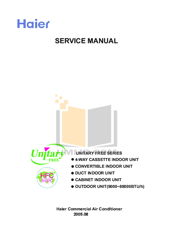 pdf manual for haier air conditioner ac42nacbea