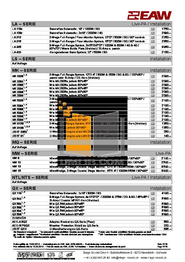 pdf manual for eaw speaker system ub22 rh umlib com