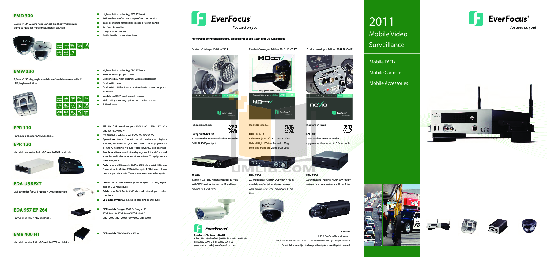 pdf for EverFocus Security Camera EAN3200 manual