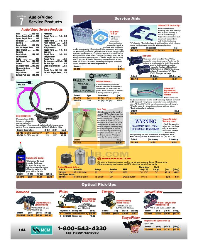 pdf for Hitachi TV 42V715 manual