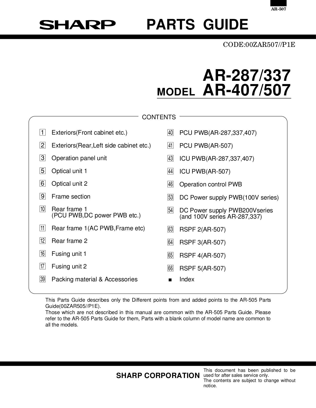 Sharp ar-280 service manual pdf download.