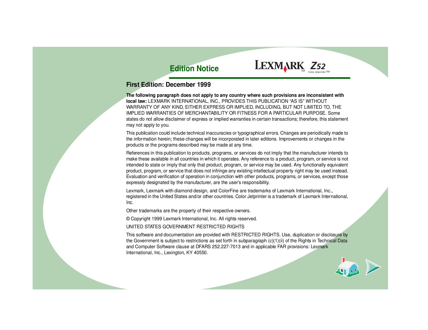 pdf for Lexmark Printer Z52 manual
