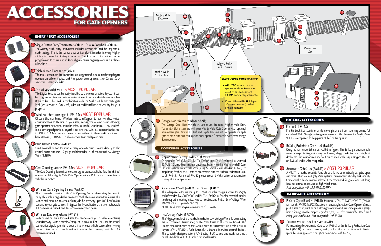 Download Free Pdf For Gto Fm145 Automatic Gate Lock Other