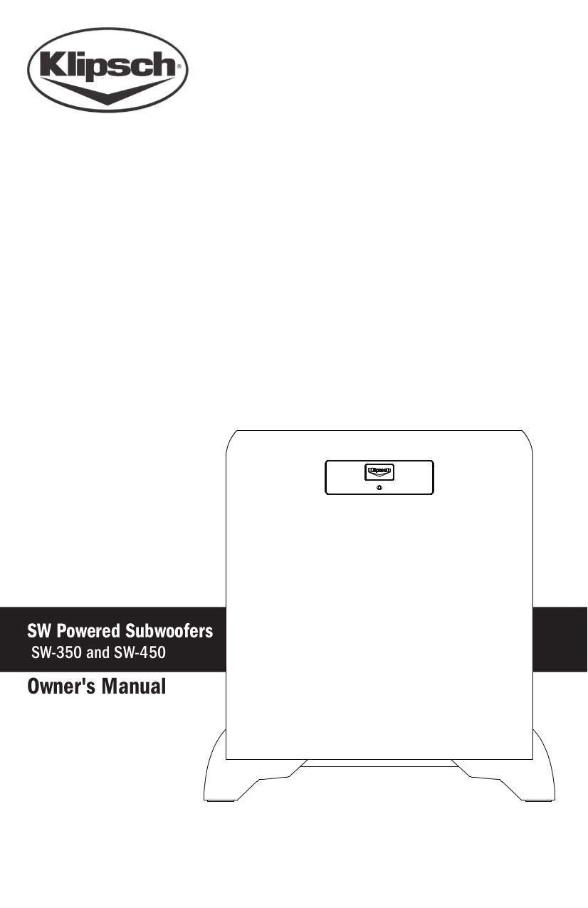 download free pdf for klipsch sw 450 subwoofer manual. Black Bedroom Furniture Sets. Home Design Ideas