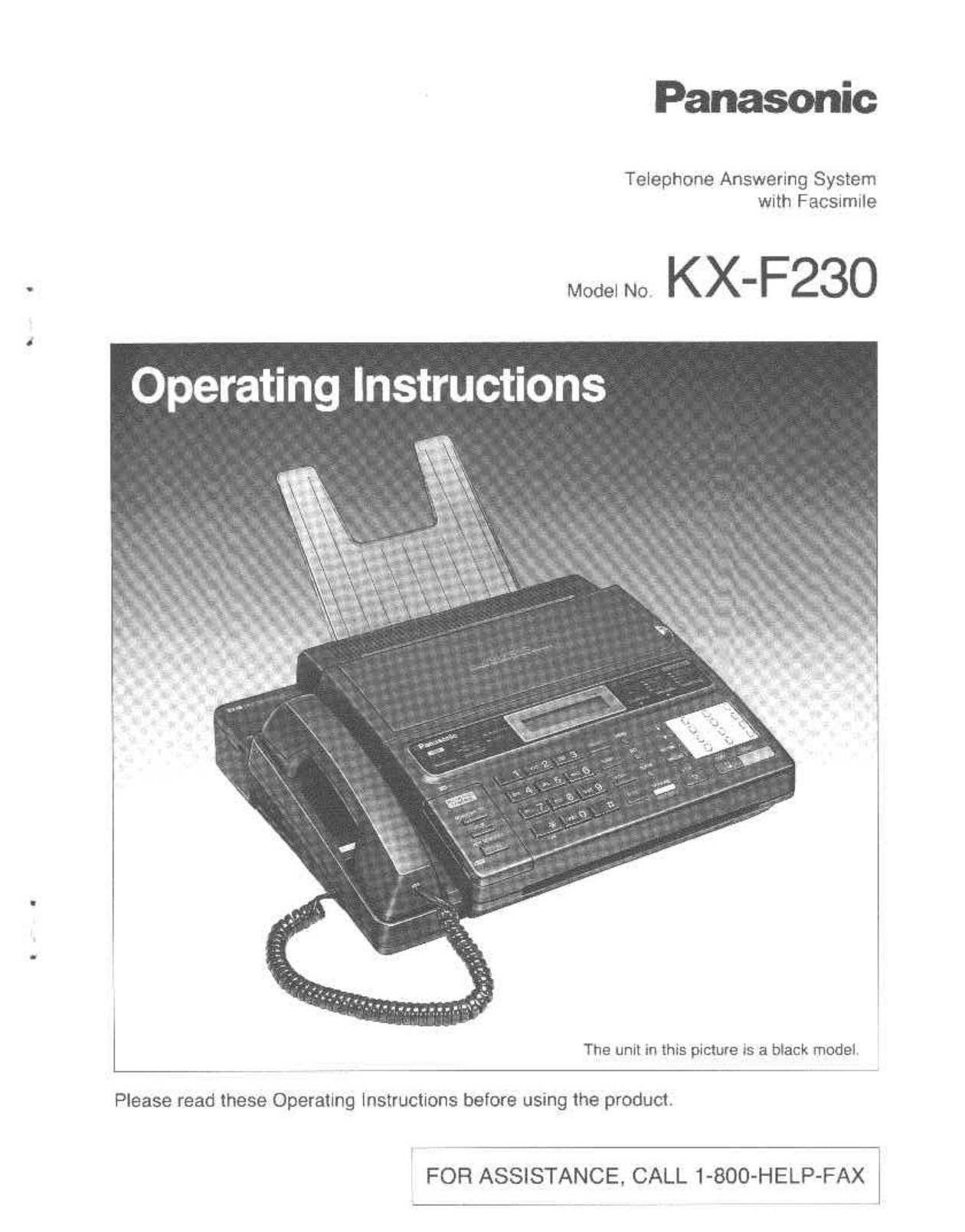 download free pdf for panasonic kx f230 fax machine manual rh umlib com manual do fax panasonic panasonic kx-fl511 fax manual