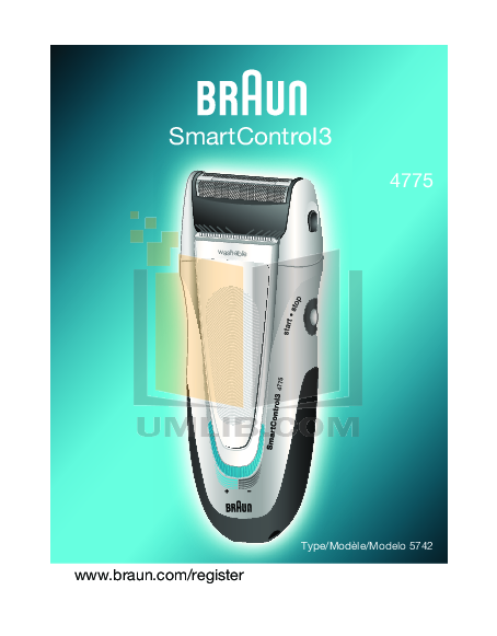 pdf for Braun Other SmartControl3 4775 Shavers manual