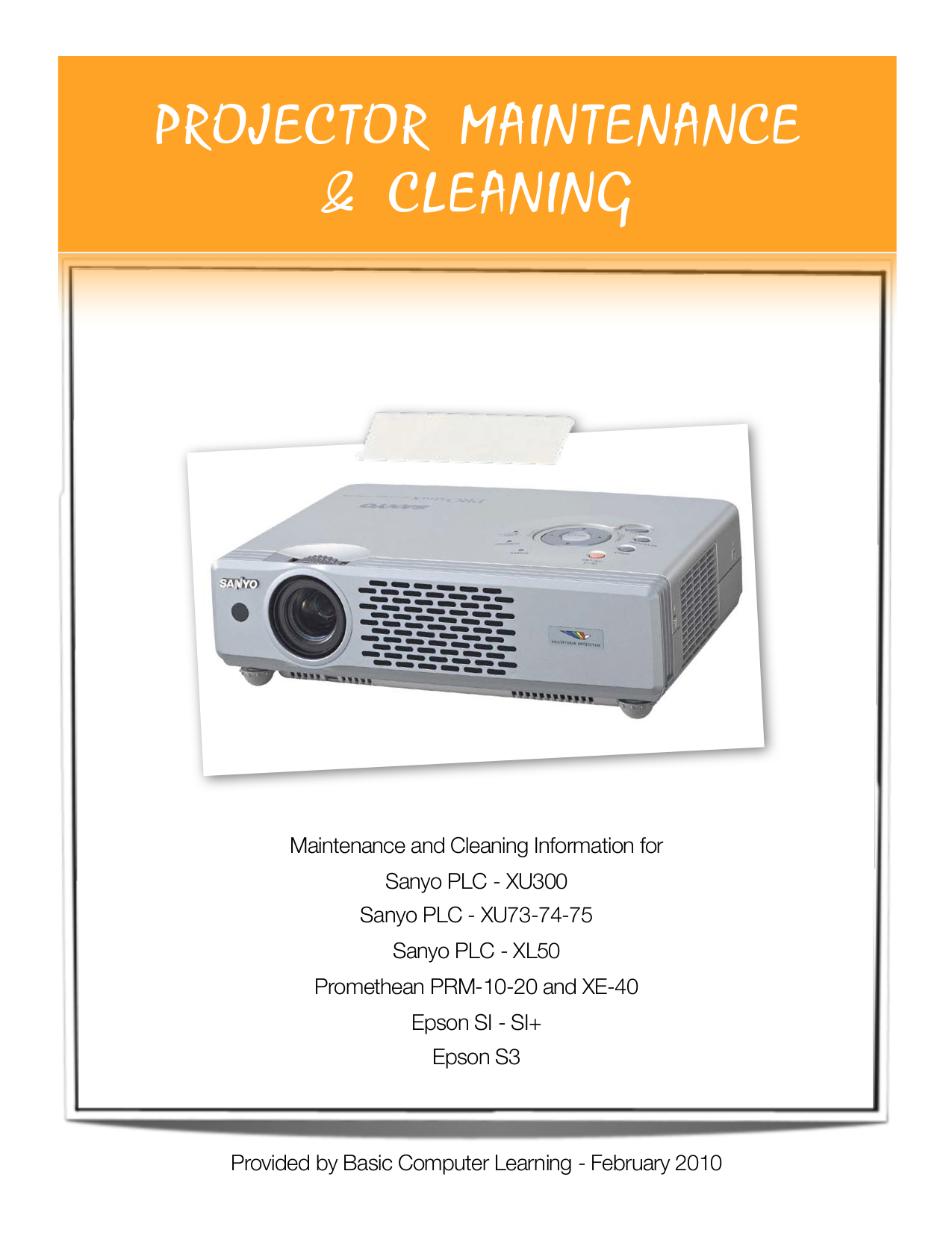 Download free pdf for sanyo plc-xe40 projector manual.