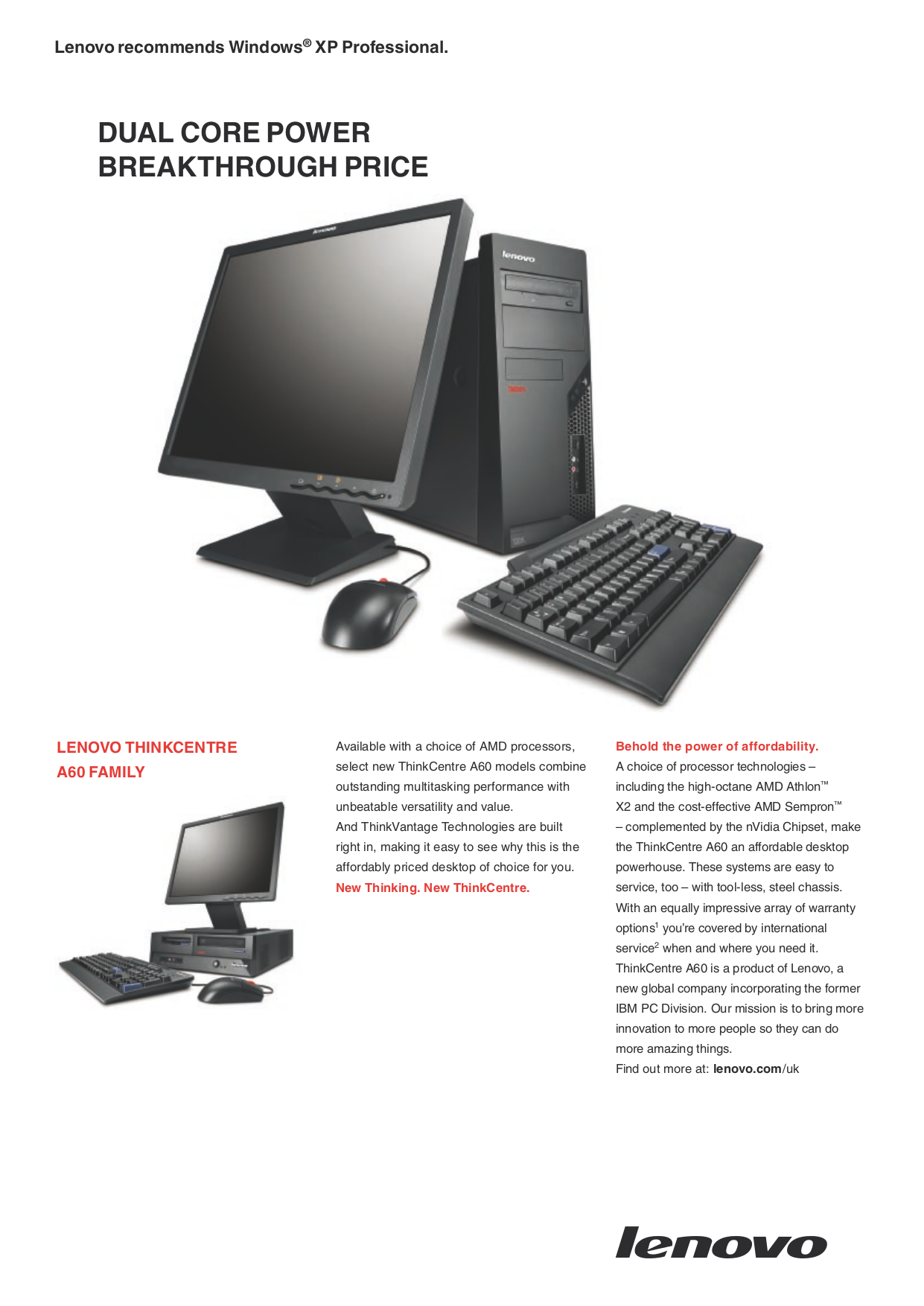 pdf for Lenovo Desktop ThinkCentre A60 9266 manual