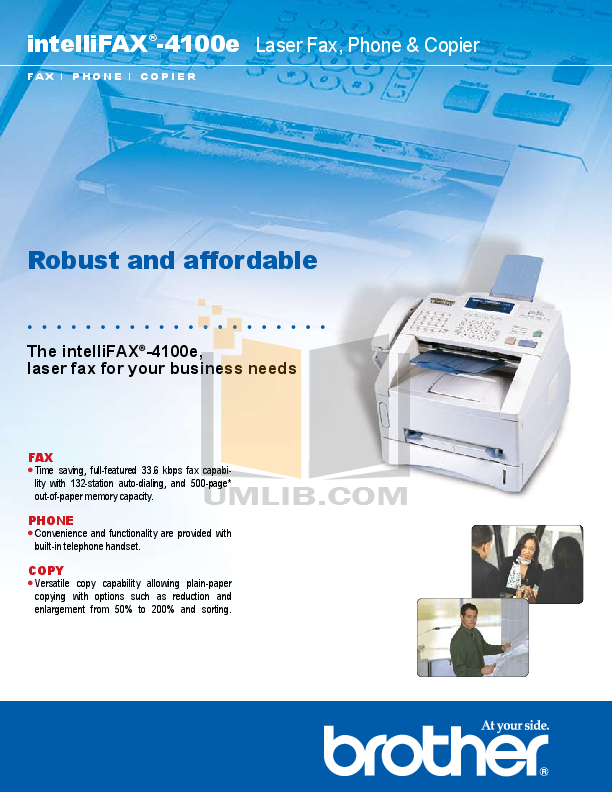 pdf for Brother Fax Machine IntelliFAX 1250 manual