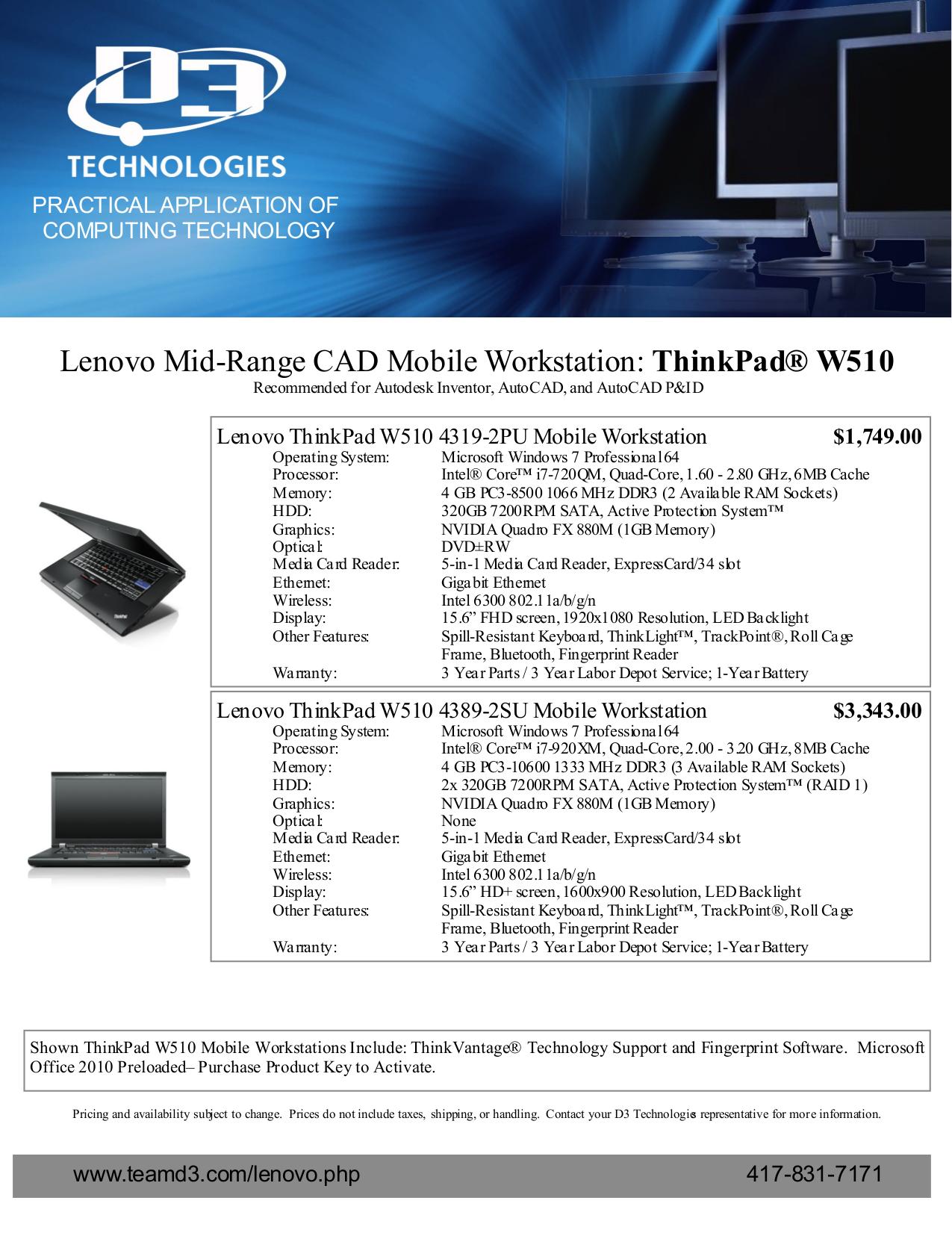PDF manual for Lenovo Laptop ThinkPad W510 4389
