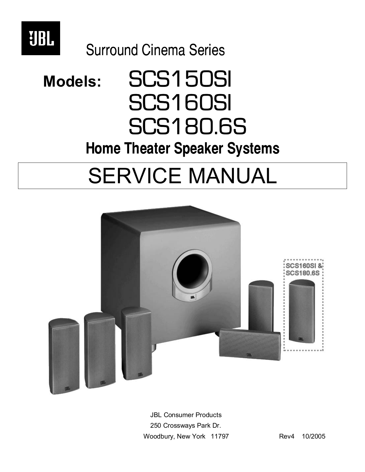 download free pdf for jbl scs180 6s speaker system manual rh umlib com JBL Wall Mount 180 SSAT JBL Wall Mount 180 SSAT