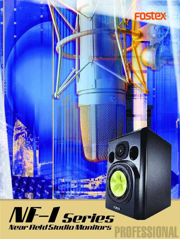 pdf for Fostex Speaker System NF-1A manual