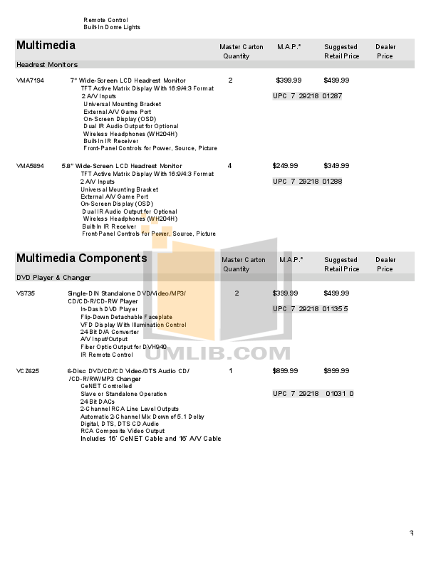 PDF manual for Clarion Car Receiver DXZ645MP