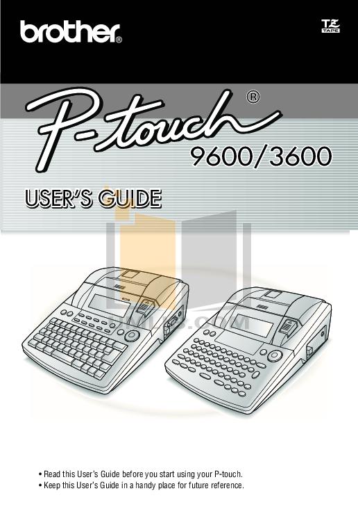 pdf for Brother Printer PT-3600 manual