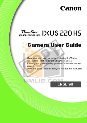 pdf for Canon Digital Camera IXUS 400 manual