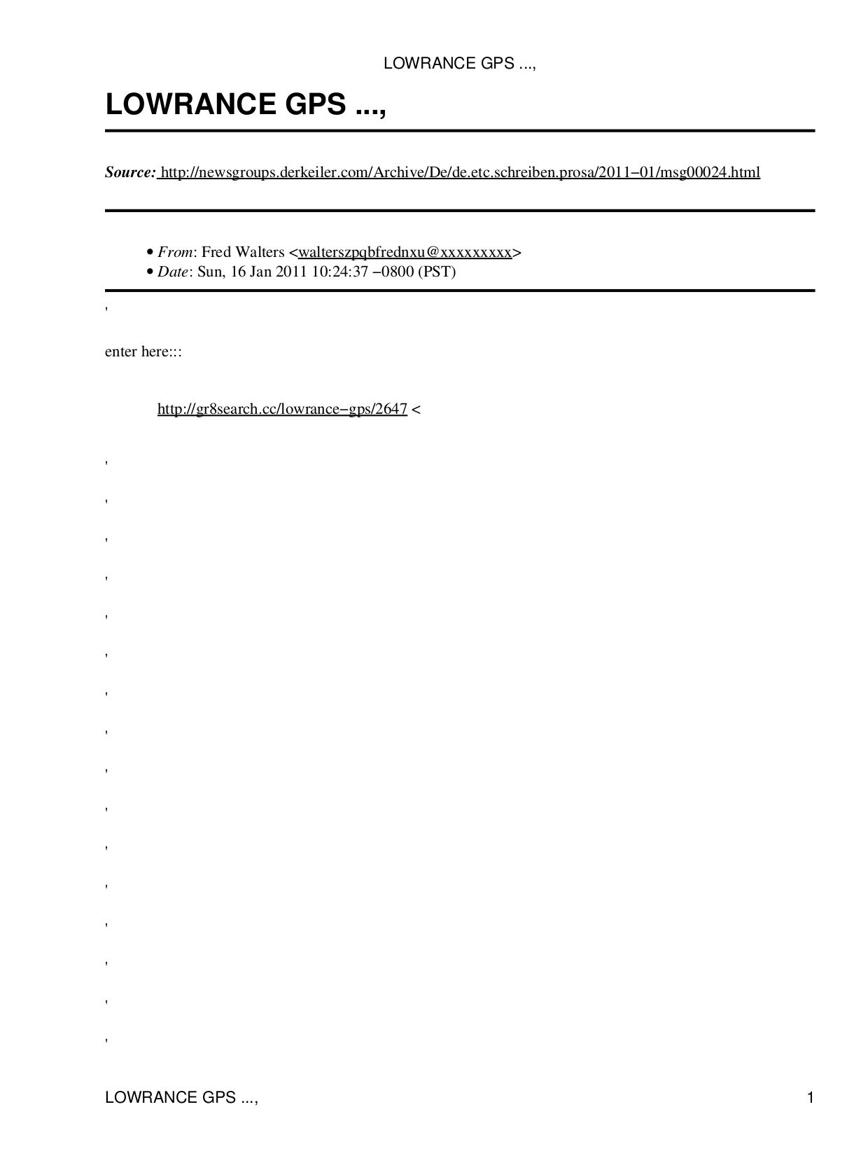 pdf for Lowrance GPS iWAY 100M manual
