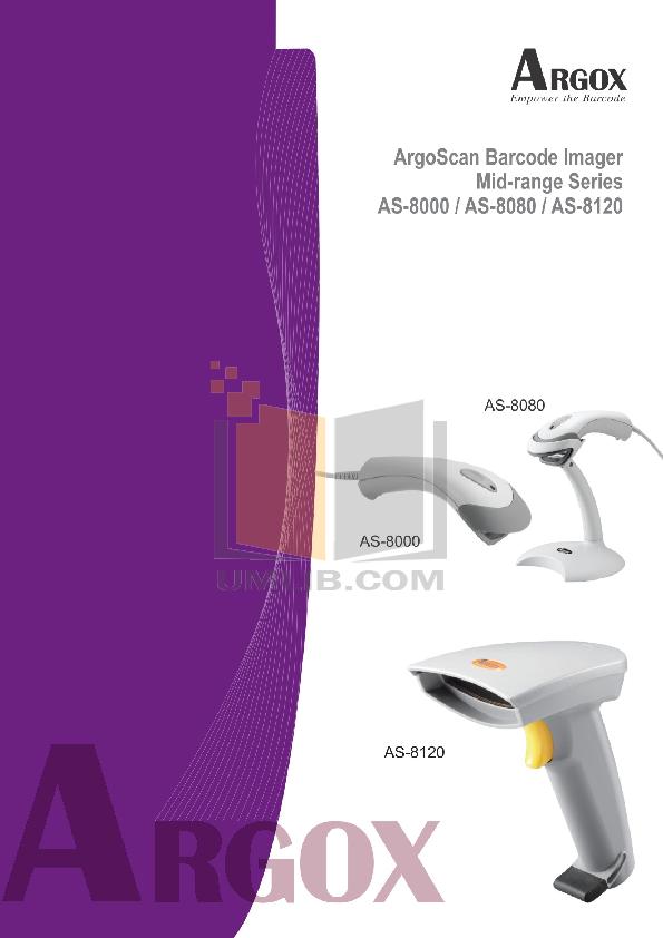 pdf for Argox Scanner AS-8000 manual