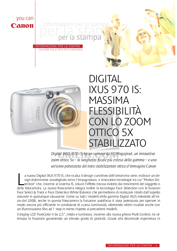 pdf for Canon Digital Camera IXUS 970 IS manual
