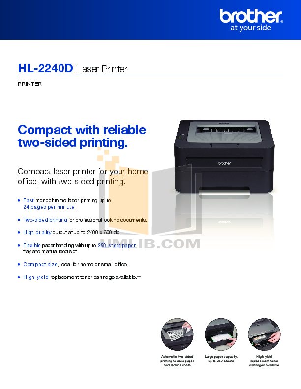 pdf for Brother Printer HL-2240D manual