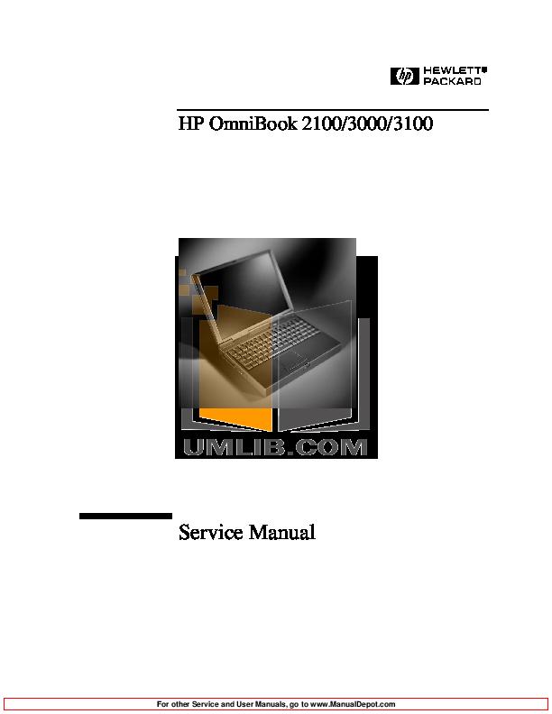 pdf for HP Laptop OmniBook 3100 manual