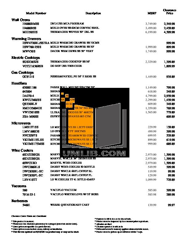 Frigidaire Refrigerator FRT18S6JK pdf page preview