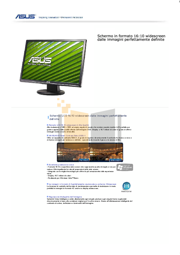 Asus Monitor VW221D pdf page preview