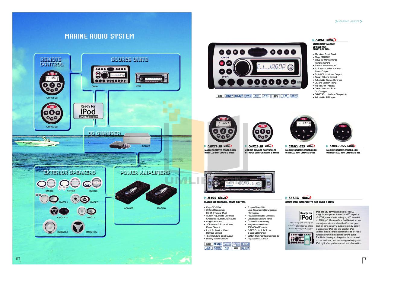 clarion marine m455 manual free owners manual u2022 rh wordworksbysea com Clarion Marine Radio Remote Marine Audio