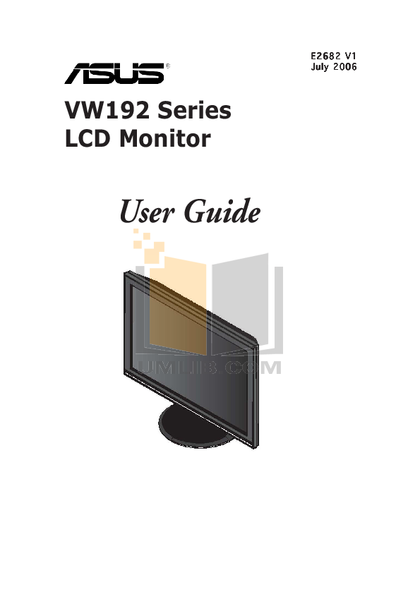 pdf for Asus Monitor VW192T manual