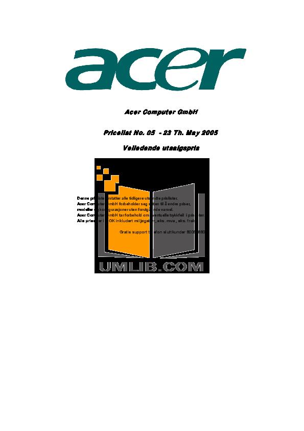 pdf for Acer Desktop Veriton 7700GX manual
