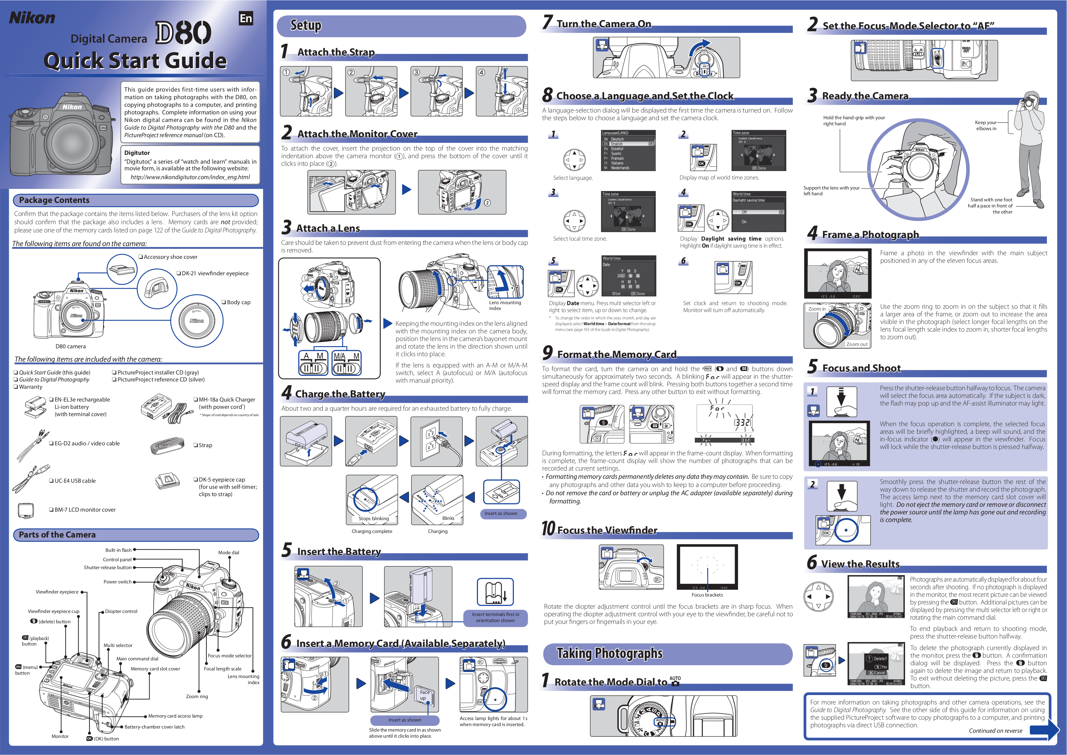 pdf for Nikon Digital Camera D5000 manual
