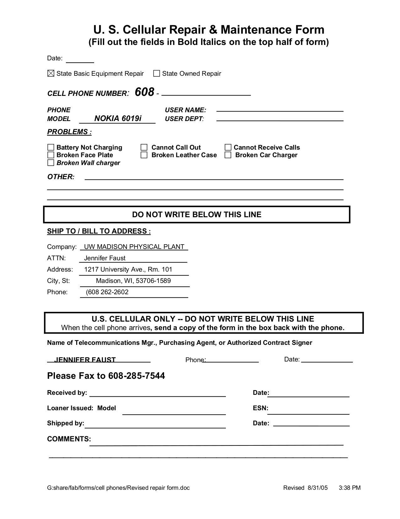 cell phone repair form - Selo.l-ink.co