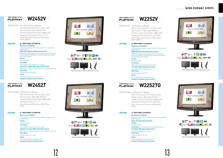 LG Monitor L226WU pdf page preview