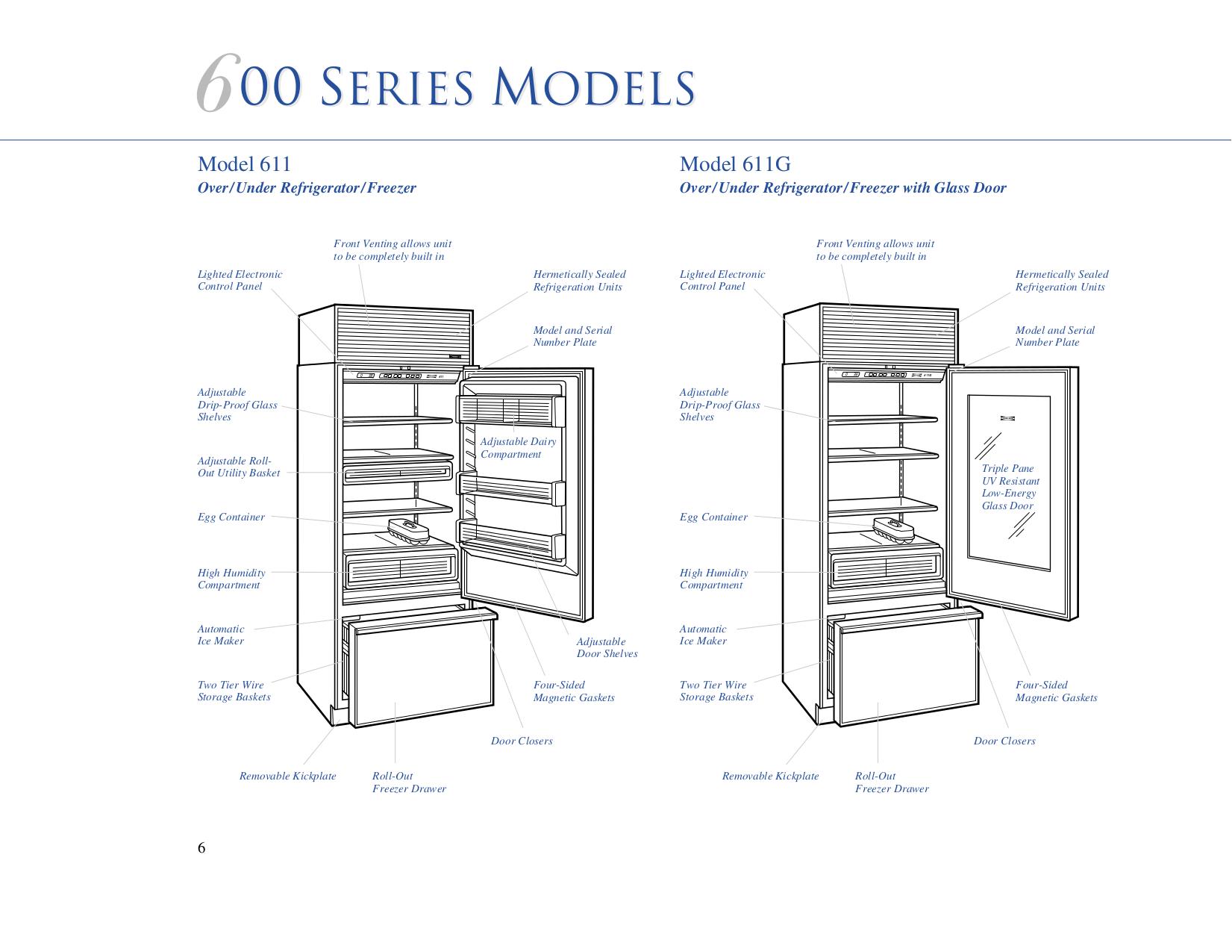 pdf manual for wolf refrigerator sub zero 642 rh umlib com Sub-Zero 650 Indicator Light Sub-Zero 650 Parts Diagram