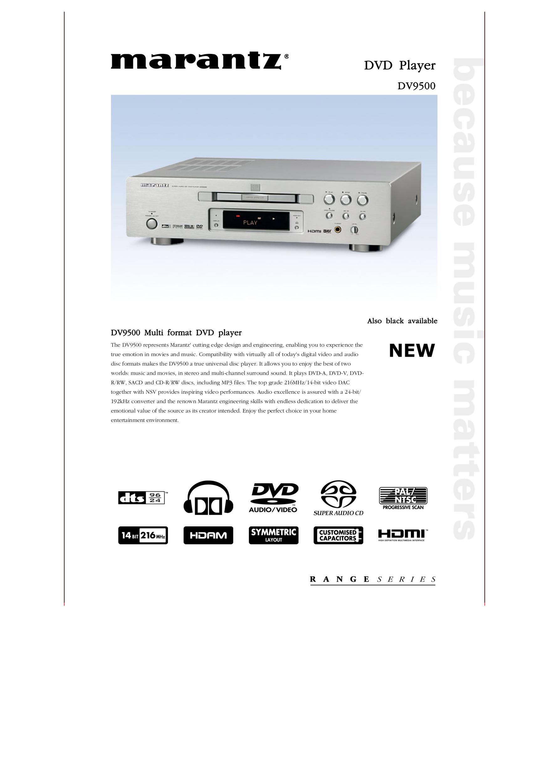 download free pdf for marantz dv9500 dvd players manual rh umlib com HP Owner Manuals Auto Repair Manual