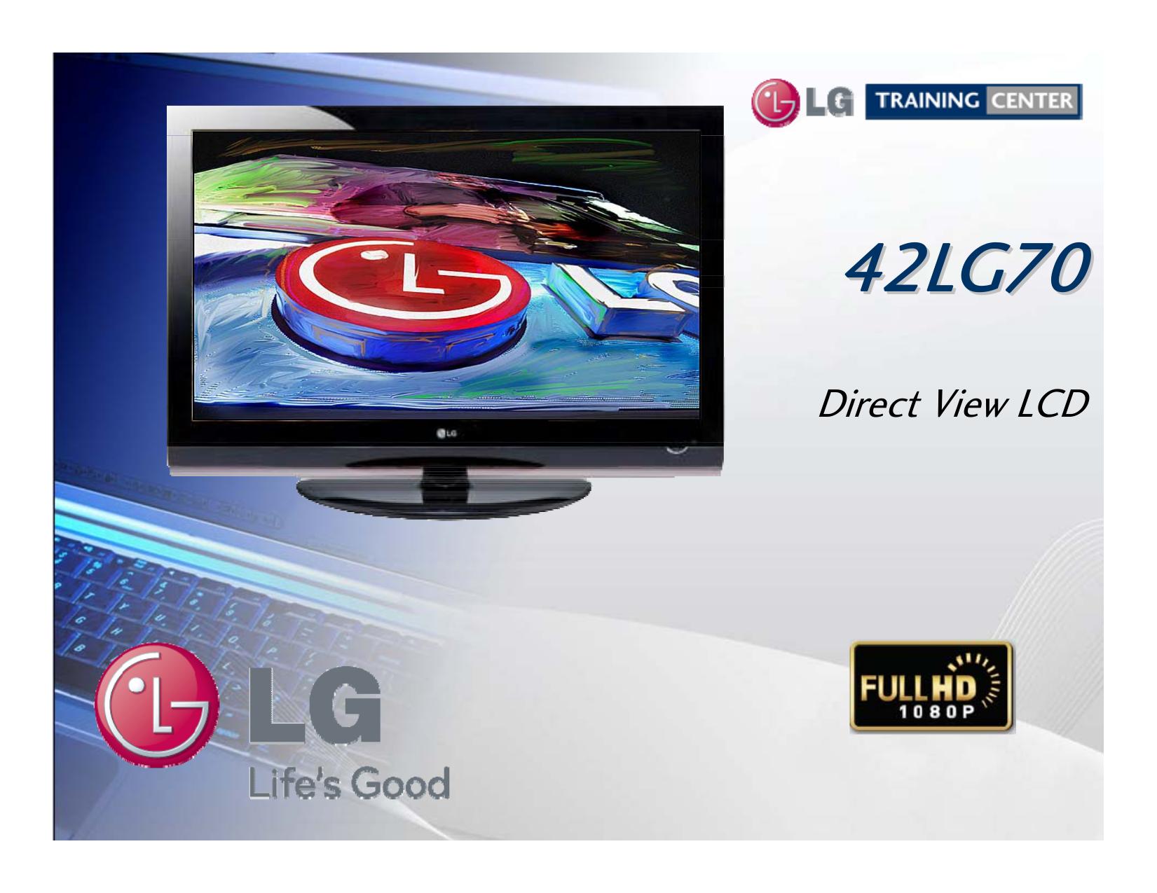 pdf for LG TV 42LG70 manual
