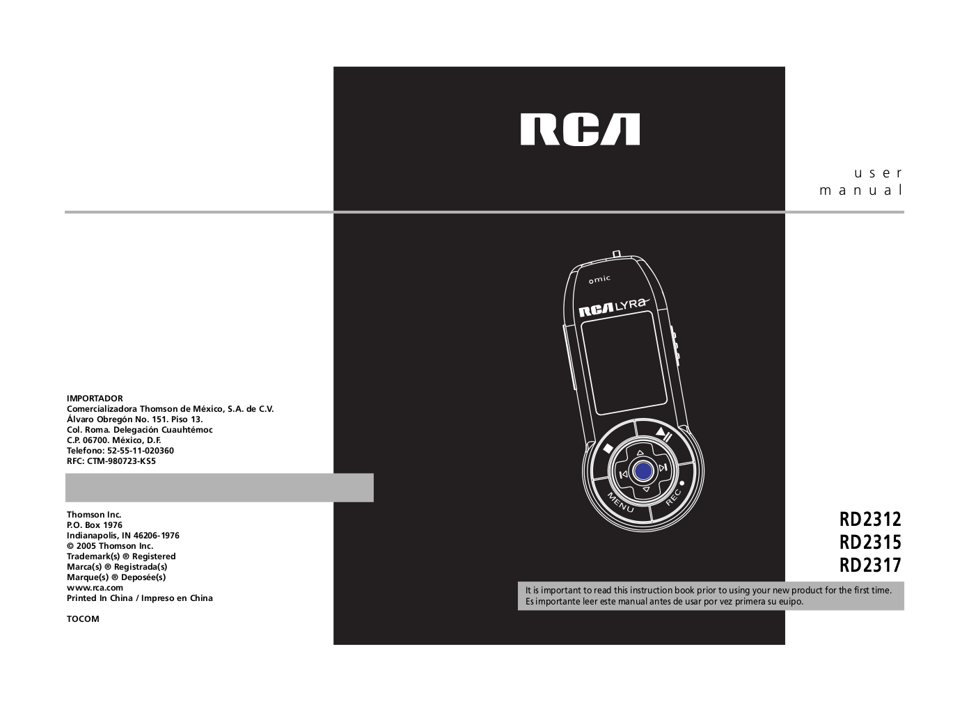 download free pdf for rca lyra rd2317 mp3 player manual rh umlib com instruction manual rca mp3 player rca mp3 player th1814 manual
