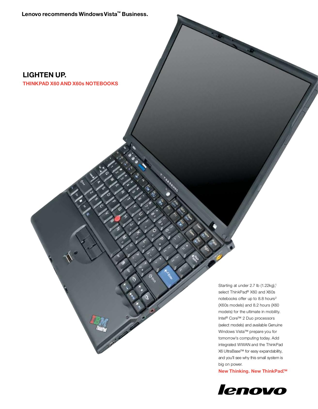 download free pdf for lenovo thinkpad x60 1706 laptop manual rh umlib com lenovo thinkpad x60 manual pdf Laptop Lenovo X60