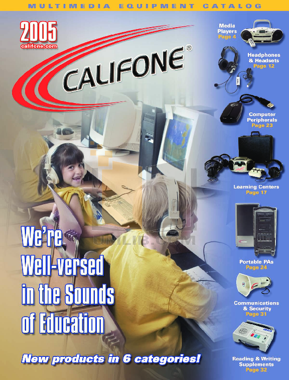 pdf for Califone DVD Players DVD105 manual