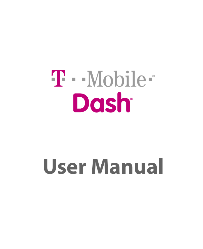 pdf for T-Mobile Cell Phone Dash manual