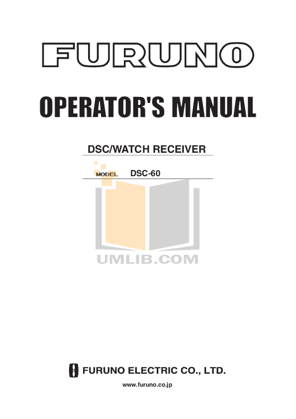 pdf for Furuno Other DSC-6A DSC Terminal manual
