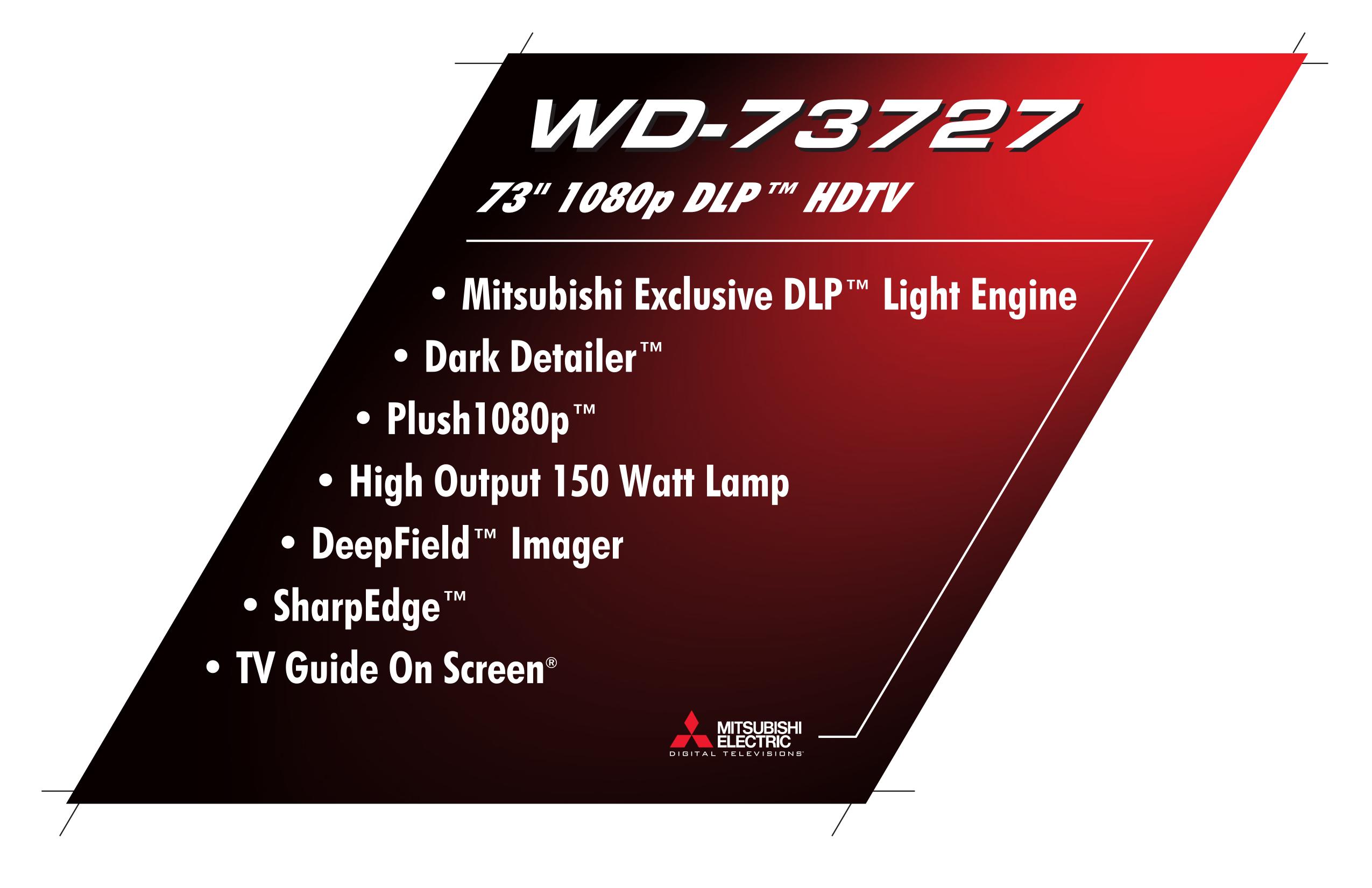 Pdf For Mitsubishi TV WD 73727 Manual