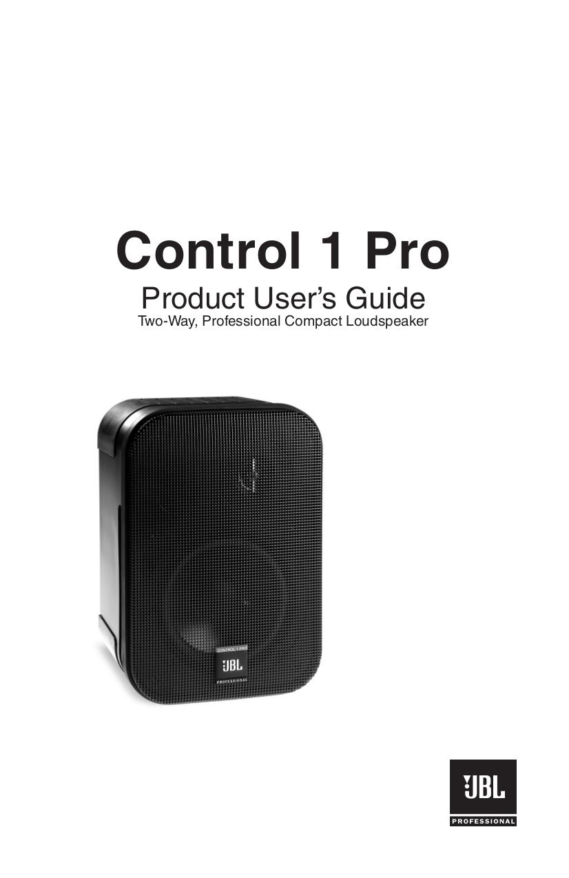 Download free pdf for JBL Control Control 1Xtreme Speaker manual