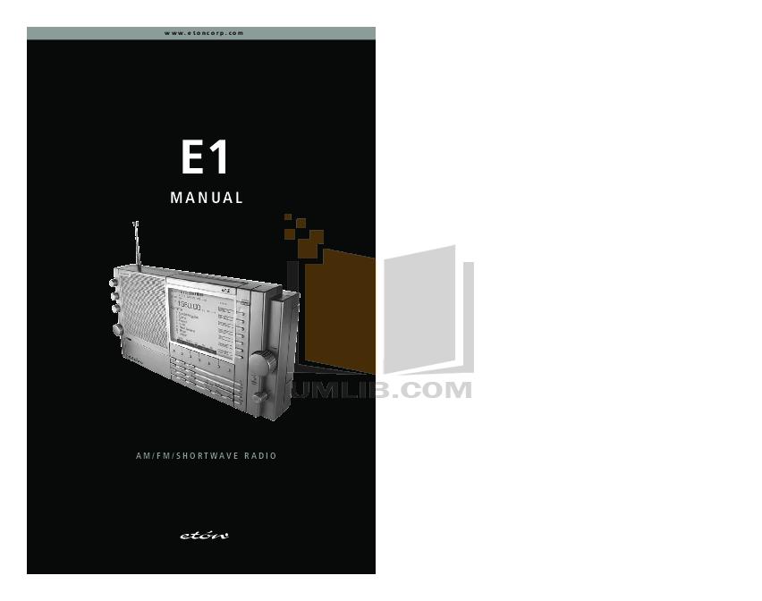 Eton e1 e1 manuals.